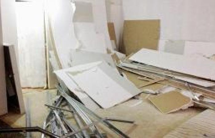 انهيار سقف جبسي يزن نصف طن في مكتب مدير صحة الباحة
