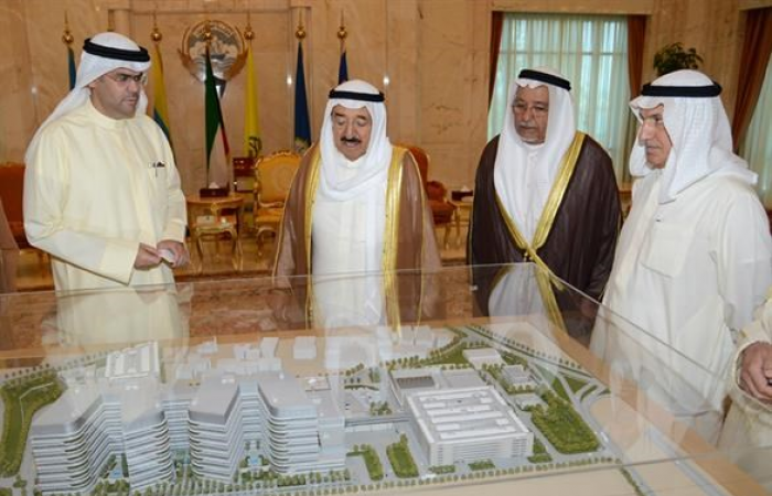 الأمير اطلع على مشروع بناء مستشفى الجهراء الجديد