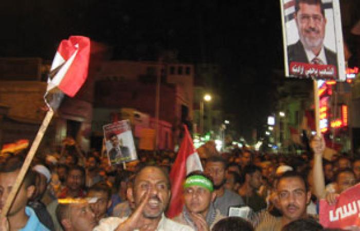 مسيرة مؤيدة لأنصار الرئيس المعزول بأسوان