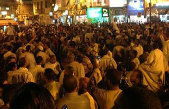 أنصار المعزول يقطعون طريق شبين الكوم أمام مسجد الصالحين بالإسماعيلية