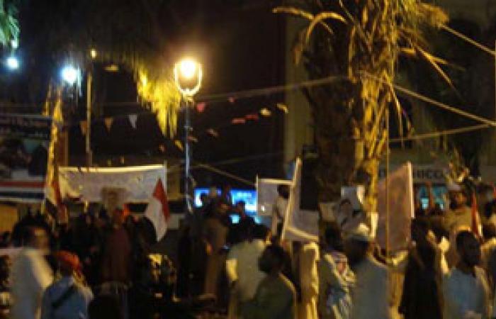 مسيرة لأنصار الرئيس المعزول بمدينة كوم أمبو