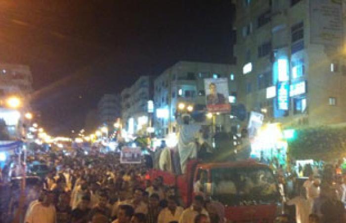 مسيرة ليلية لمؤيدى مرسى بمطروح تحذر من فض اعتصامات المؤيدين