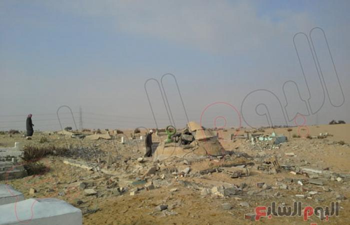 بالصور.. نرصد آثار تفجيرات أضرحة بسيناء