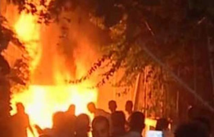 إخماد حريق بأحد مصانع المنطقة الصناعية بحى الكوثر فى سوهاج