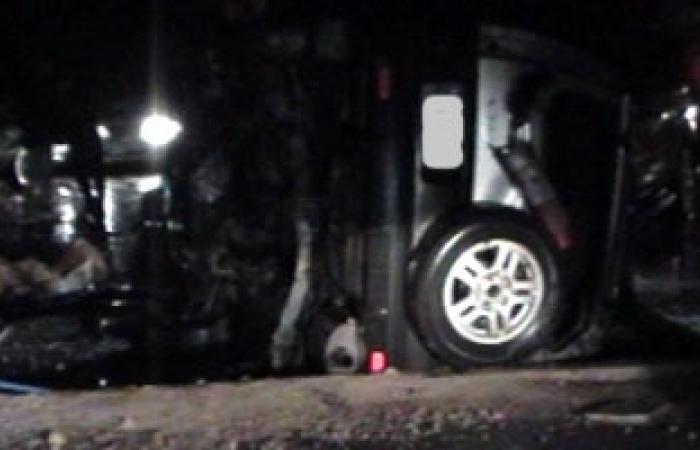 وفاة طفل وإصابة أسرته فى حادث انقلاب سيارة بالوادى الجديد