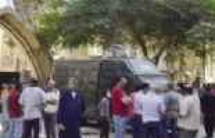 ضبط شاب يصور قوات التأمين الخاصة بكنيسة مار جرجس في سوهاج