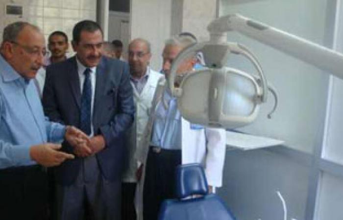 مصطفى يسرى يتفقد مستشفى الرمد وديوان محافظة أسوان