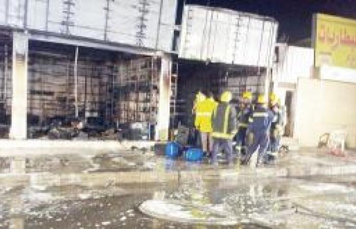 حريق يتلف 300 بطارية في «حسان بن ثابت»