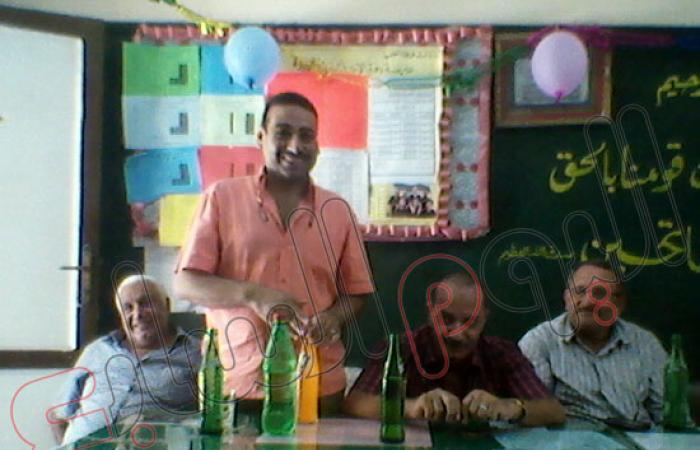 حفل تكريم لمدير مدرسة دفرة المشتركة لبلوغه سن المعاش بالغربية