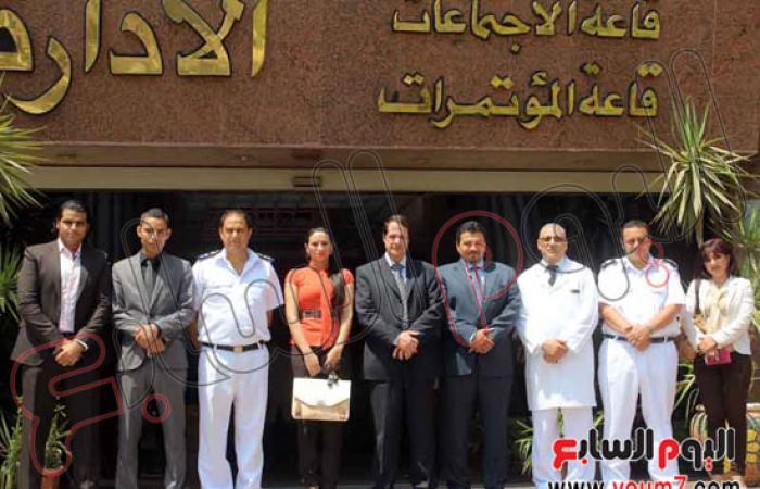 """بالصور.. حزب """"شفيق"""" يزور مصابى الشرطة بمستشفى مدينة نصر"""