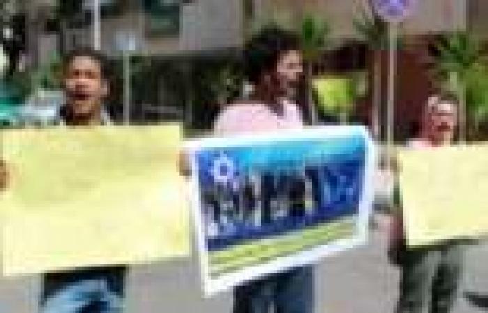 """""""كفاية"""" تتظاهر أمام القنصلية الأمريكية بالإسكندرية لرفض تدخل واشنطن في شؤون مصر والعالم العربي"""