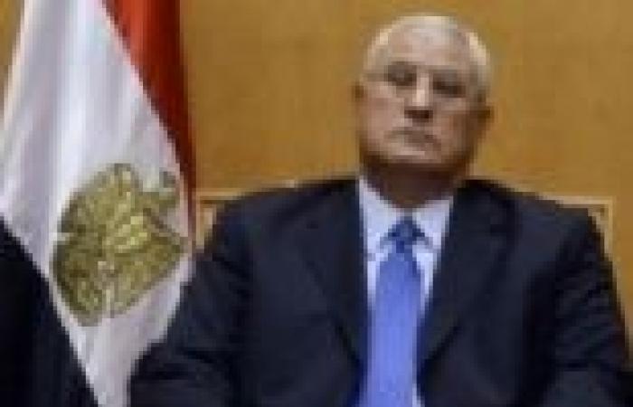 الرئيس عدلي منصور للتليفزيون المصري: لا تراجع عن خارطة الطريق تحت أي ظرف من الظروف