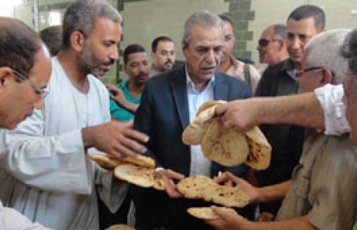 """محافظ المنيا يتفقد أعمال التشغيل التجريبى لمجمع مخابز """"عرب الزينة"""""""