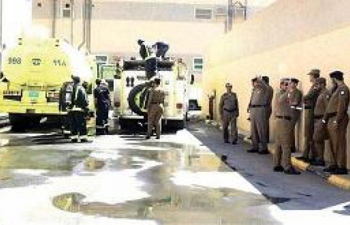 حريق فرضي في سجن خميس مشيط