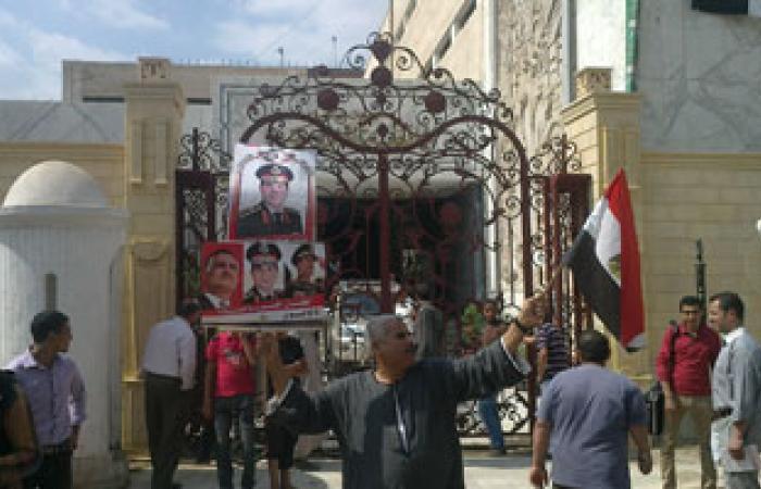 المنوفية تحتفل بذكرى انتصار أكتوبر بأعلام مصر وصور السيسى