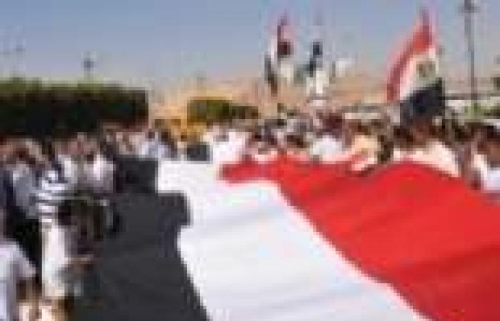 مسيرات للاحتفال بانتصارات أكتوبر في ملوي وأبوقرقاص