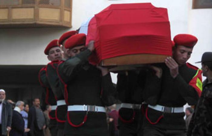"""جنازة عسكرية لـ""""شهيد الشرطة"""" فى شمال سيناء بمسقط رأسه بالمنوفية"""