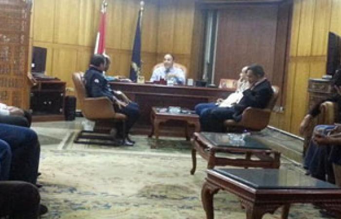 مدير أمن بورسعيد يعقد اجتماعاً مع ممثلى جرين إيجلز لبحث مطالبهم