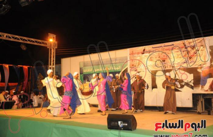 بالصور.. مى كساب وأحمد بدير يرقصان على الأغانى النوبية بأسوان
