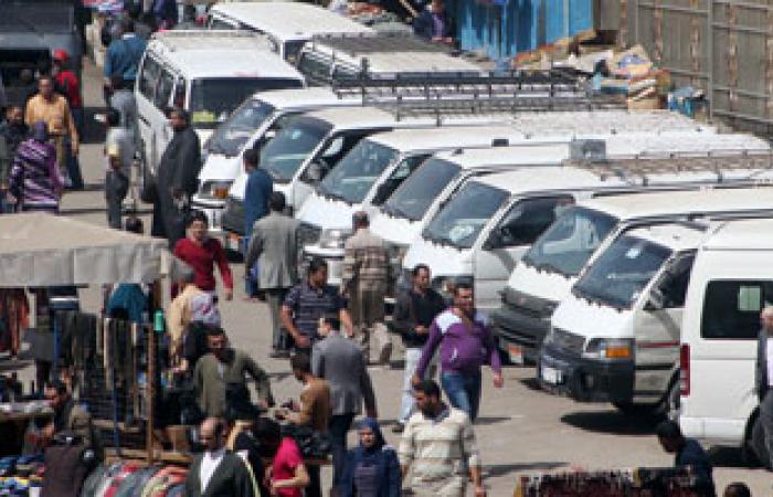 سائقو سيارات أجرة بقرية فى الغربية يتظاهرون للمطالبة بإنشاء موقف