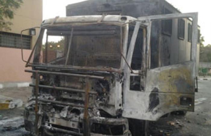آثار التخريب فى جامعة الأزهر نتيجة شغب طلاب الإخوان
