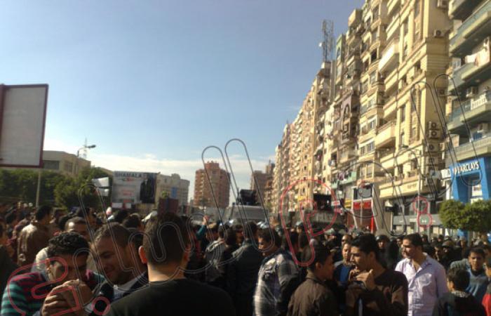 الأهالى والأمن يمنعون مسيرات الإخوان من التحرك خارج جامعة المنصورة