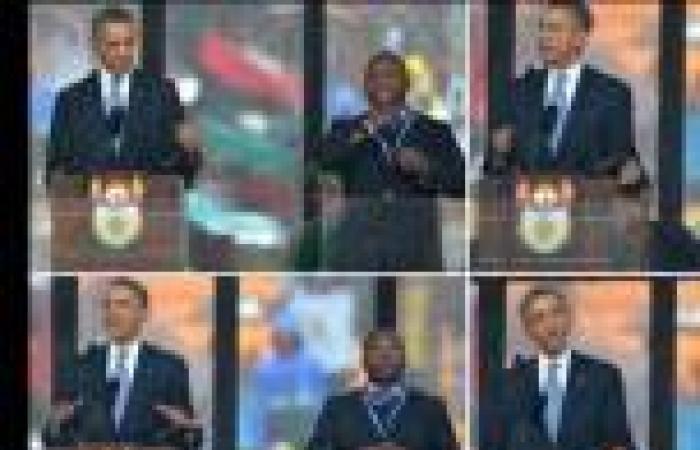 «الراجل اللي ورا باراك أوباما» انتحل شخصية مترجم صم وبكم في تأبين «مانديلا»