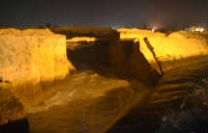 انهيار جزئى لجسر في الإسكندرية يوقف محطة مياه شرب دون خسائر في الأرواح