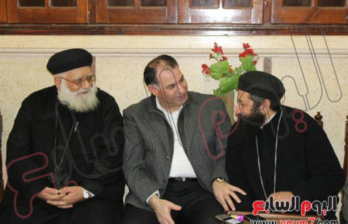 """بالصور..الإعلامى محمد فودة يزور كنائس """"زفتى"""" ويهنىء الأقباط بـ""""الميلاد"""""""