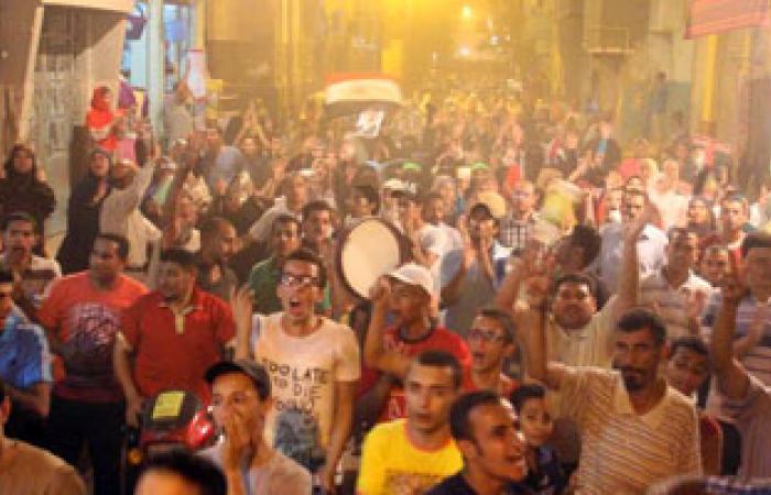 مسيرة للإخوان بالقرب من مديرية أمن السويس