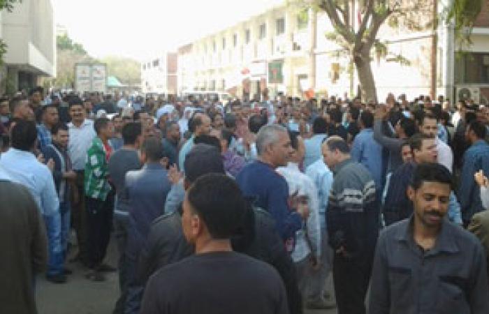 """إضراب العاملين بـ""""النيل للزيوت والمنظفات"""" بمسطرد لإقالة رئيس الشركة"""
