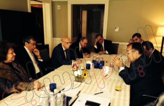 نبيل فهمى يلتقى عددًا من الشخصيات الأمريكية من أصل مصرى وعربى