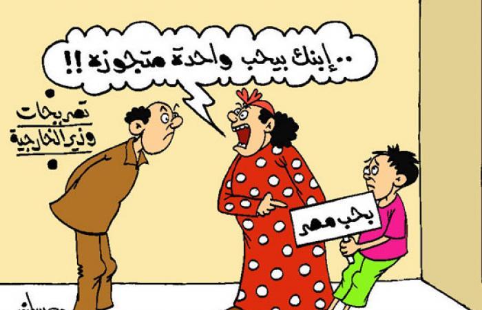 """""""ابنك بيحب واحدة متجوزة"""" كاريكاتير ساخر من تصريحات وزير الخارجية"""