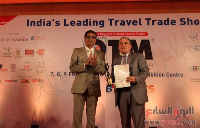 """""""السياحى المصرى"""" بالهند يحصد جائزة الأكثر تأثيرا بالسوق الهندى"""