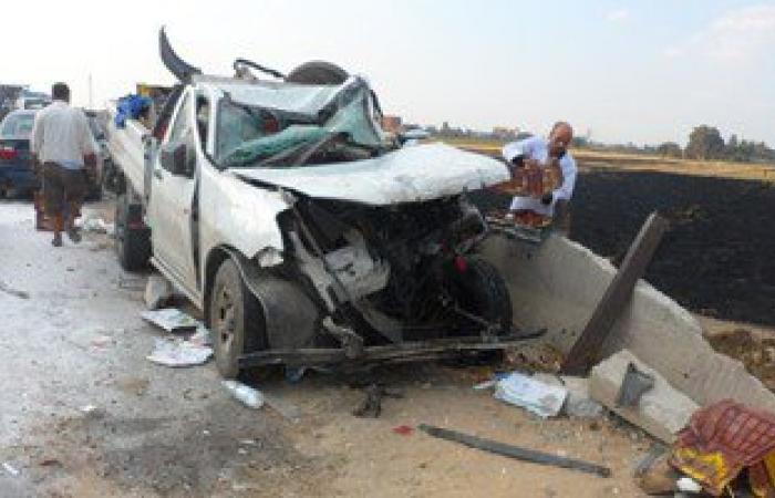 مصرع شخص وإصابة 2 آخرين فى حادث تصادم بالطريق الزراعى فى دمنهور