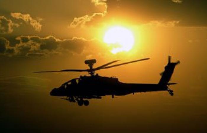 """""""الأباتشى"""" تحلق مجددا فى سماء شمال سيناء والقوات تطلق نيرانا تحذيرية"""