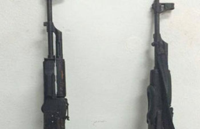 ضبط 13 قطعة سلاح نارى بدون ترخيص بالمنيا