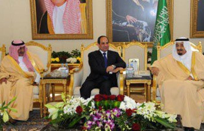 خادم الحرمين وولى العهد وأمير الرياض على رأس مودّعى الرئيس السيسى