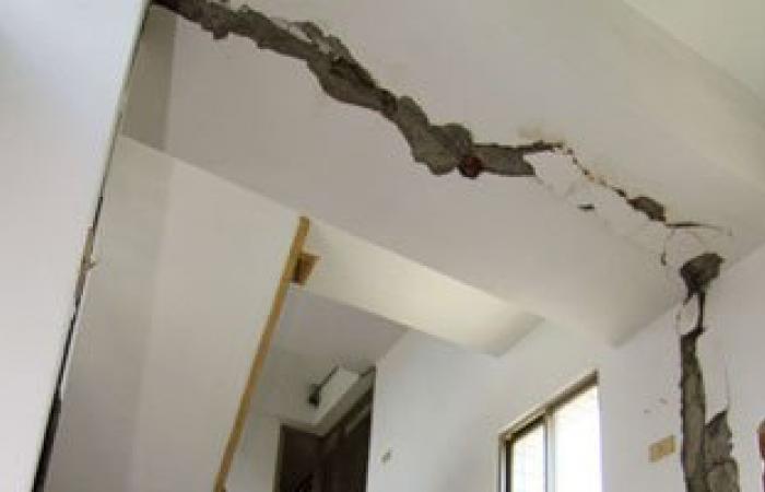 نجاة سيدة وابنيها من الموت بعد انهيار منزلهم فى بنى سويف