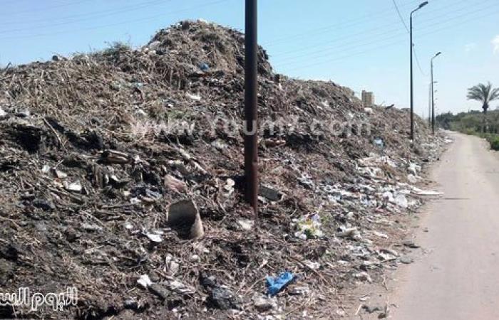 بالصور.. تلال مخلفات ترعة المحمودية تحاصر قرية أبيس الأولى بالإسكندرية
