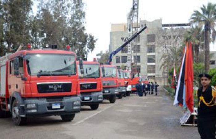 إصابة 8 بينهم أمين شرطة أثناء إخماد حريق بمدينة بنى سويف الجديدة