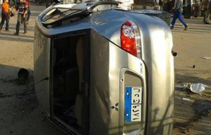 إصابة 3 فى حادث انقلاب سيارة ملاكى بطريق السويس ـ السخنة