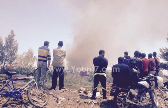 أولى صور حريق مصنع الخل فى قرية ميت حبيش بالغربية