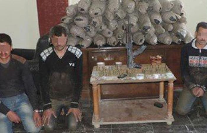 حبس 3 عاطلين ضبط بحوزتهم 120 كيلو بانجو بقوارب الصيد فى القليوبية