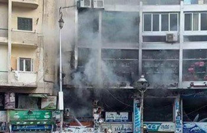 إصابة 7 أشخاص فى حريق فندق بالإسكندرية