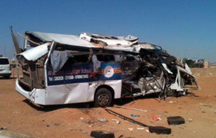 أسماء قتيل و14 مصابا فى حادث تصادم مينى باص مع سيارة نقل بالشرقية