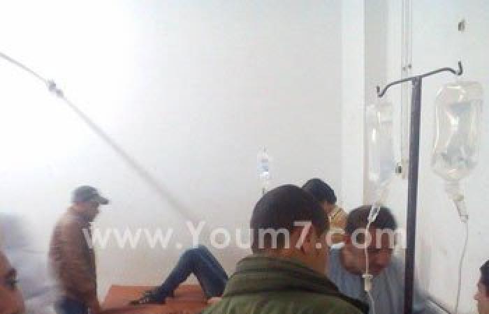 بالصور.. نقل مصاب بحادث أتوبيس الصالحية لمستشفى الأحرار لخطورة حالته