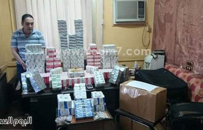 بالصور.. ضبط صيدلى بحوزته 57500 قرص مخدر بطنطا