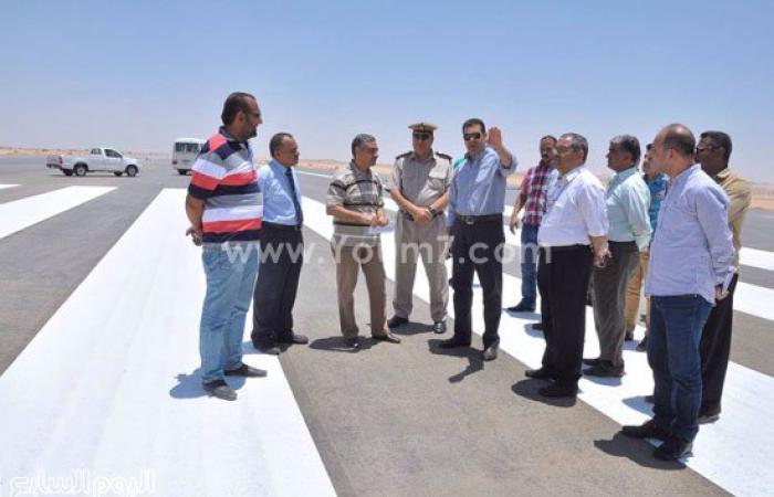 المحافظ يتفقد مطار أسيوط الدولى تمهيداً لافتتاحه نهاية يونيو