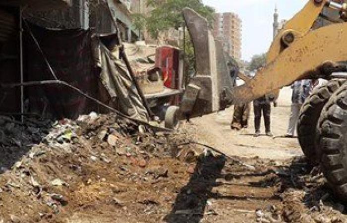 حملة نظافة أمام مساجد حى غرب شبر الخيمة